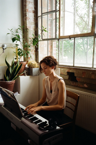 Ulrike Theusner in her studio